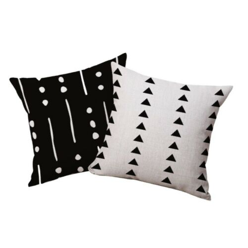 African Mud Cloth Decorative Accent Pillow Cover Cases - HOLIDAY - SET OF 2
