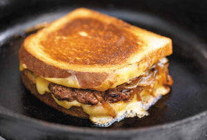 The classic patty melt on rye or white bread is unbelievably satiating and surprisingly easy and quick to slap one together at home, sorta like the most indulgent cheeseburger ever