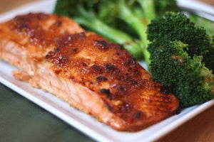 Glazed Salmon with Spicy Broccoli is one of my new favorite ways to cook and serve fish