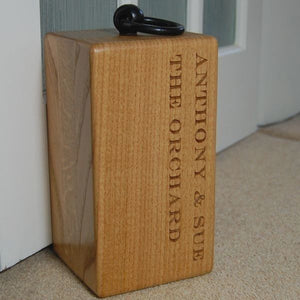 Involved Wooden Door Stop