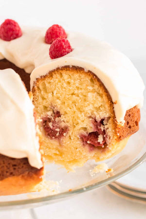 This made from scratch Lemon Raspberry Bundt Cake is a sweet, classic dessert choice