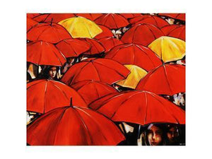 Trends Red Umbrella Art