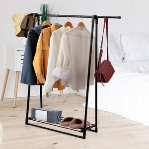 A garment rack is a great way to organize the clothing pieces that you have just ironed or those that are meant to stay in a vertical position (like coats or dresses)