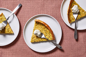 To deal with that glut of zucchini, a big, skillet pancake to the rescue