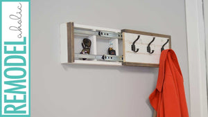 Build a wall coat rack with a hidden secret