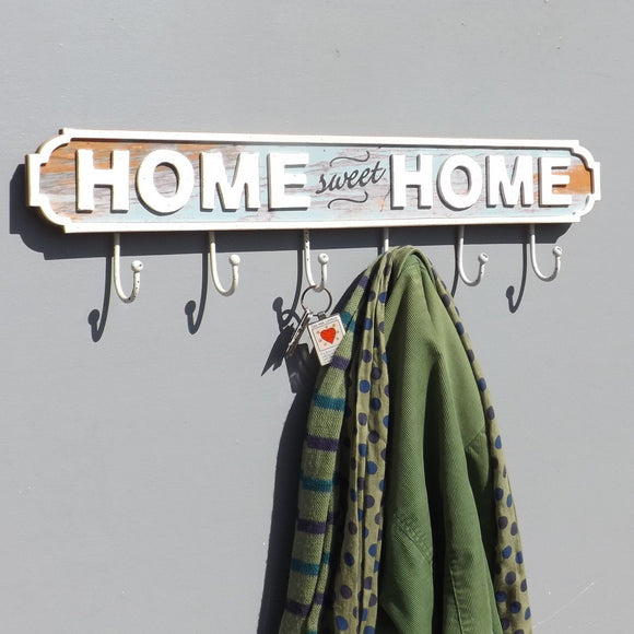 Home Sweet Home 6 Hook Rack/Vintage coat rack
