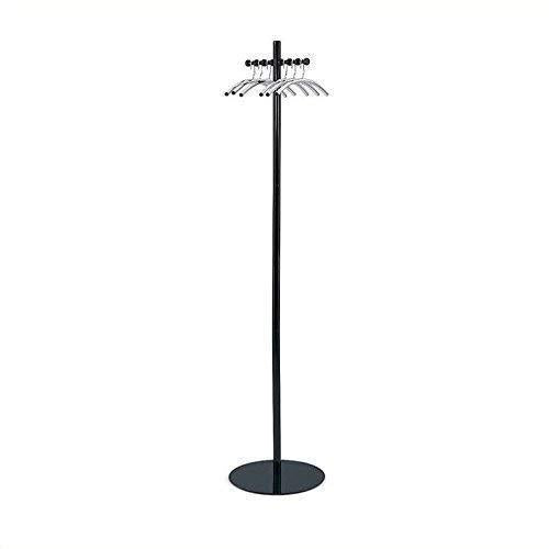 Safco Products 4192NC Nail Head Costumer Coat Rack Tree , Black/Silver