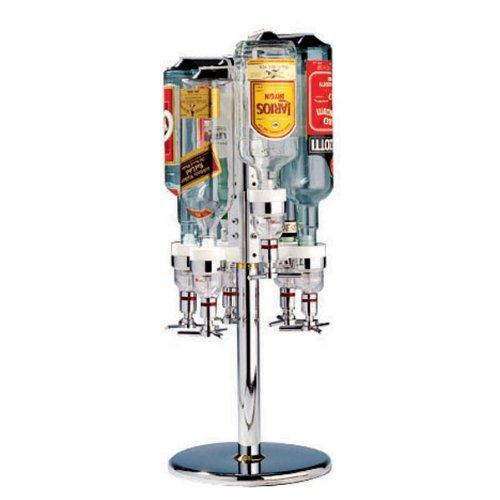 Paderno World Cuisine Revolving Bottle Rack, 6 Bottles