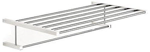 "WS Bath Collections Iceberg Collection Towel Rack, 20.2"", Polished Chrome"