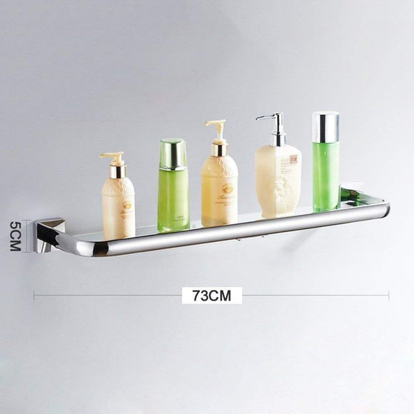 Related deed wall hanging mount rack toilet shelf stainless steel bathroom shelf dressing table dressing table tempered glass mirror frame storage rack 73cm
