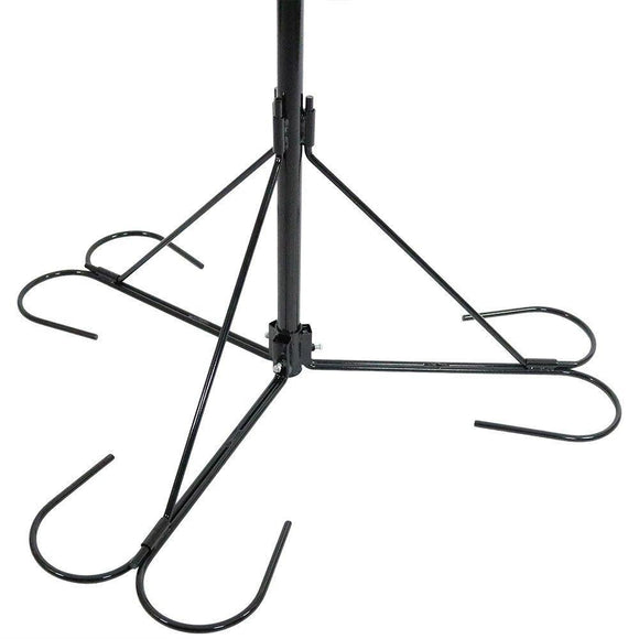 Top rated sunnydaze 4 arm hanging basket plant stand with adjustable arms indoor outdoor flower hanger 84 inch tall
