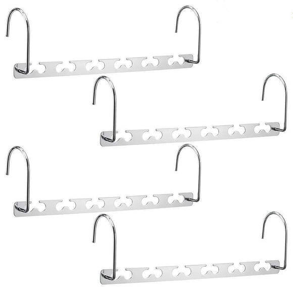 Discover the best terhoo 10 5 space saving hangers stainless steel magic hangers closet wardrobe clothing hanger oragnizer heavy space saver as seen on tv pack of 4