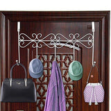 Related rbenxia over the door 5 hanger rack decorative metal hanger holder for home office use white