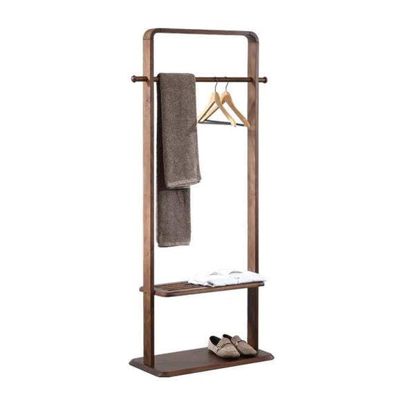 Amazon excellent store solid wood coat rack bedroom floor storage hanger simple clothes rack home hanger coat rack 5014 color b