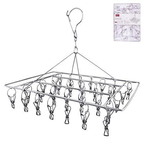 Buy now rosefray 30 clips metal clothespins stainless steel clothes drying rack hats rack portable metal hanger great for quick hand wash of delicates