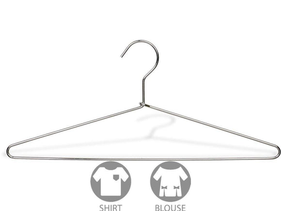 Budget friendly the great american hanger company slim metal suit hanger box of 100 thin and strong chrome top hangers for shirt and pants