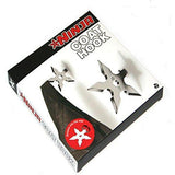 Products coat hooks ninja throwing darts star stainless steel creative wall door hook clothes hats hanger holder home decoration 5 pcs