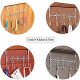 Products rbenxia over the door 5 hanger rack decorative metal hanger holder for home office use white