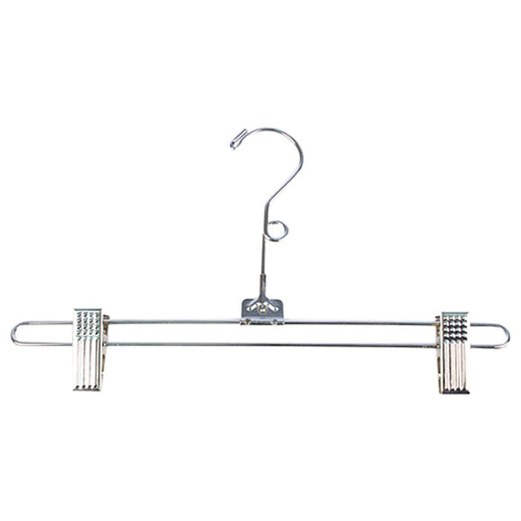 The best kc store fixtures a19101 salesman skirt hanger 12 with loop chrome pack of 100
