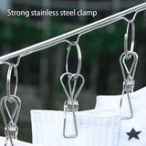 Kitchen dx da xin clip and drip hanger 52 clips clothes drying hanger for delicates jeans sock scarf gloves underwear bras cloth diapers with 20 metal clothespins and 6 self adhesive hooks