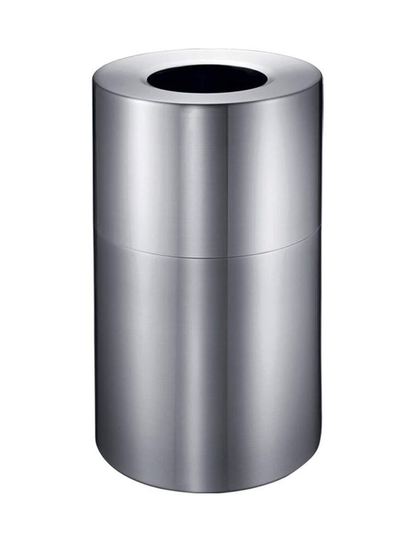 EKO Eternal 100L/26.4Gallon Commercial Trash can, Silver