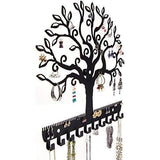Shop here angelynns jewelry organizer hanging earring holder wall mount necklace display rack storage branch rack tree of life black