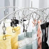 Great hamek 3 pack stainless steel clothes drying rack 10 clips metal clothespins portable laundry drying rack clothes hanger