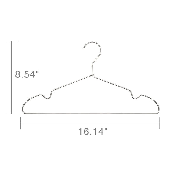 Online shopping house day aluminum alloy hangers metal hangers non slip cloth hanger stainless steel strong metal wire hangers clothes hangers 12 pack 16 5 inch standard hangers 6 silver 6 light gold mixed color