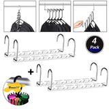 Products space saving hanger clothes hangers magic hanger 360 swivel keep your clothes organized wrinkle free 4 pack wardrobe metal hanger 1 pack tie rack belt hanger hook