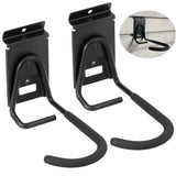 The best heavy duty slatwall bike hook storage system vertical bicycles rack for garden garage shed organization easily hang detach tools hanger black 2 pack 6 8 bike hook