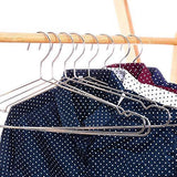 Results davitu hangers racks 45cm stainless steel strong metal wire hangers coat hanger standard suit hangers clothes hanger 30 pcs lot