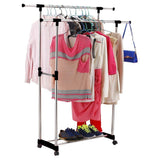 Buy generic yh us3 160606 45 8yh3678yh nt rack black clothes hanger nger rollin double heavy duty double he rolling garment le portab adjustable portable duty adj rack black