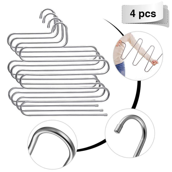 Products eleling 5 layers pants clothes rack s shape multi purpose hangers for trousers tie organizer storage hanger