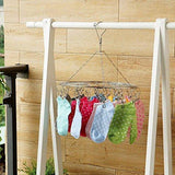 Discover the laundry clothesline hanging rack for drying clothing set of 20 stainless steel clothespins round