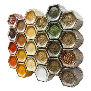 Latest gneiss spice everything spice kit 24 magnetic jars filled with standard organic spices hanging magnetic spice rack large jars silver lids