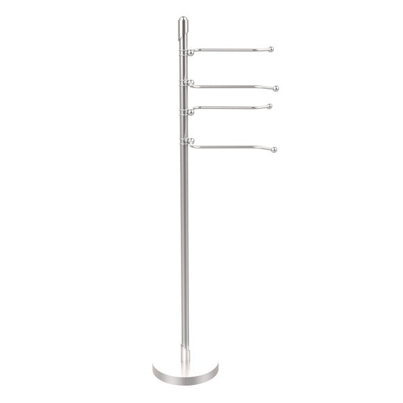 Allied Brass SH-84-SCH Soho Collection 4-Swing Arm Towel Stand, Satin Chrome