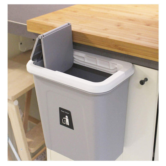Purchase karyhome hanging trash can small cabinet kitchen trash can garbage can for kitchen cupboard with automatic return lid grey