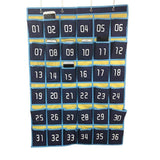 Select nice loghot numbered classroom sundries closet pocket chart for cell phones holder wall door hanging organizer blue 36 pockets with digital