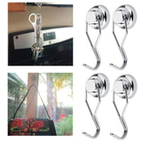 Explore stylez 4 pcs heavy duty swivel magnetic swing hooks super strong all purpose stainless steel hangers