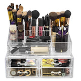 Purchase sorbus acrylic cosmetics makeup and jewelry storage case display sets interlocking drawers to create your own specially designed makeup counter stackable and interchangeable