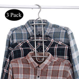 Purchase doiown multipurpose stainless steel closet hangers blouses shirt dresses scarf hangers organizer set of 3 non slip 3 pieces