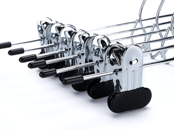 Online shopping 24 quality pants hangers heavy duty add on skirt slack metal hanger set of 24 24