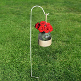 Buy now graybunny shepherd hook 48 inch set of 4 white 2 5 thick strong rust resistant premium metal hook for weddings hanging plant baskets solar light lanterns bird feeders mason jars plant hanger
