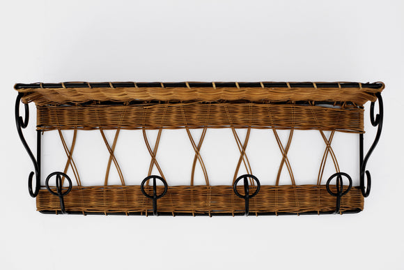 Royere Style Wicker Coat Rack