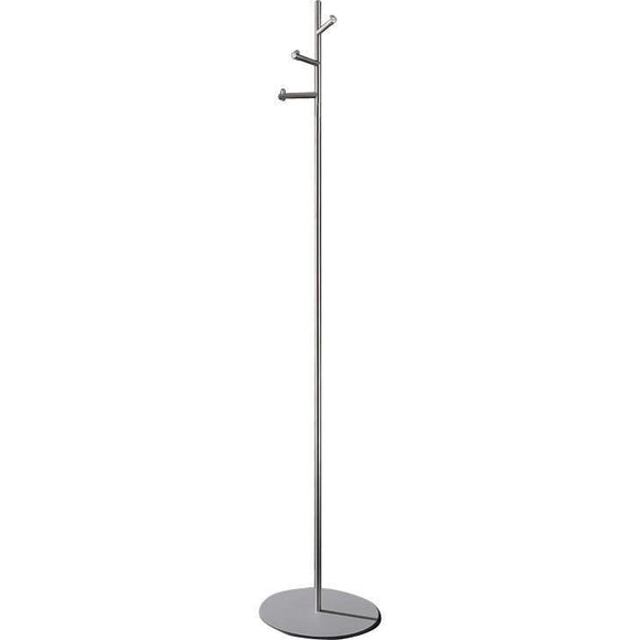 PSBA Standing Coat Rack Stand Hanger Towel Holder 3 Hooks Stainless Steel Matte