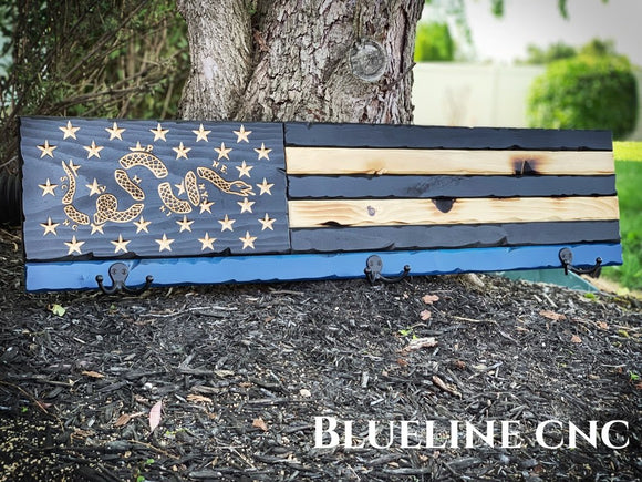Blue line Battlescar Coat Racks