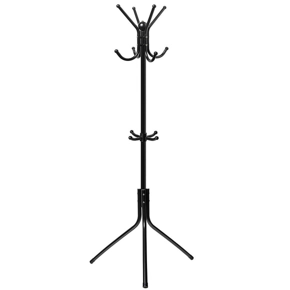Den Haven Stainless Steel Standalone Coat Rack with 10 Hooks