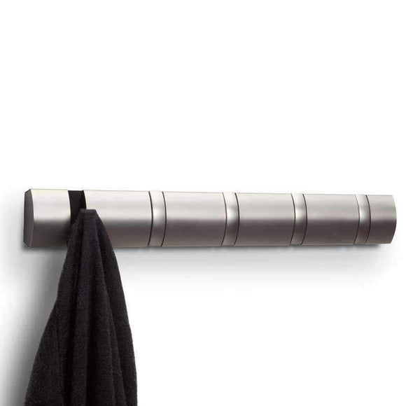 Umbra Nickel Flip 5 Hook Coat Rack
