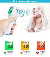 Infrared Thermometer Non Contact Digital Forehead Thermometer Laser Temperature Gun Fever Alert with LCD Display Instant Accurate Reading Ideal for Babies, Children, Adults, Indoor, and Outdoor Use