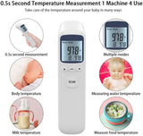 Forehead Thermometer, Non-Contact Infrared Digital Thermometer, Instant Reading Temperature Measurement Device for Baby Kids and Adults, Indoor and Outdoor